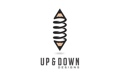 Up and Down Design Logo