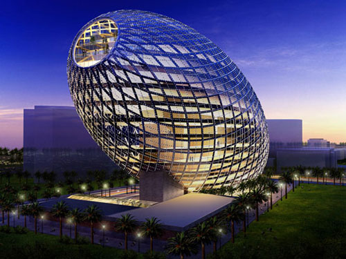 Cybertecture Egg - Mumbai, India architecture