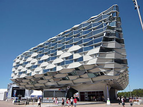 Pabellon de Aragon - Zaragoza, Spain architecture