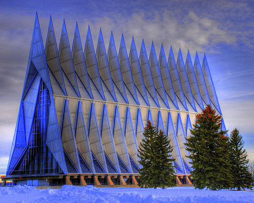 Air Force Academy Chapel - Colorado, USA architecture