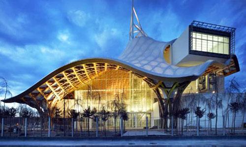 Centre Pompidou-Metz Museum - Metz, France architecture