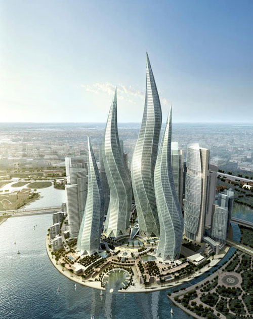 Dubai Towers - Dubai, UAE architecture