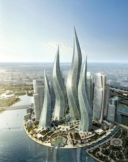 Dubai Towers - Dubai, UAE architecture