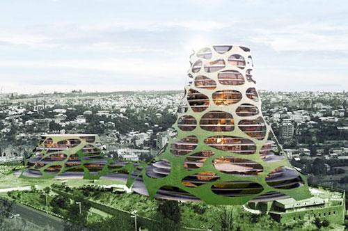 Solar Powered Volcano Tower architecture