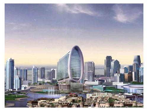 The Oval Tower - Dubai, UAE architecture