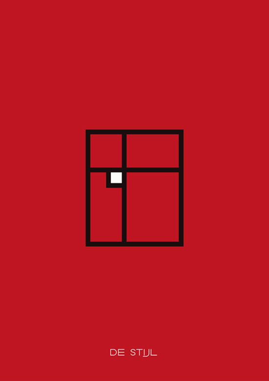 destijl Minimalist Posters Illustrating Art Movements