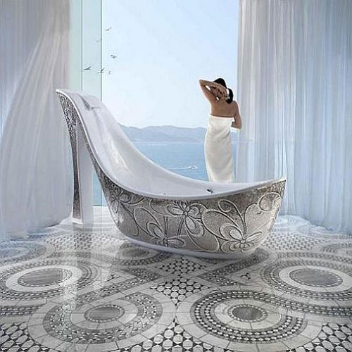 shoe bathtub by sicis 1 bathroom interior design ideas to check out - Best Bathroom Interior Design