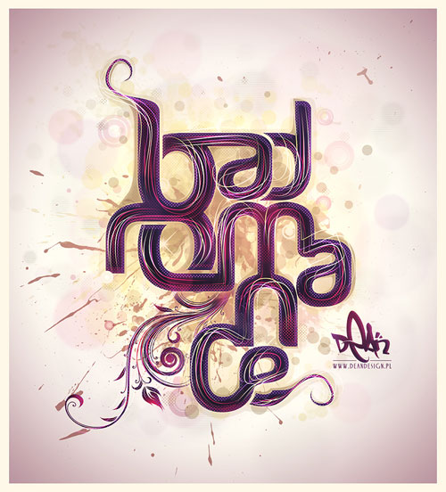Bad Romance Typography Example