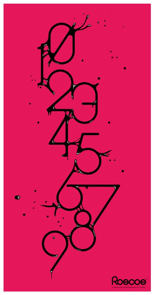 Roscoea font Typography Example