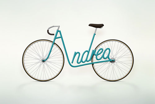 Write a Bike Typography Example