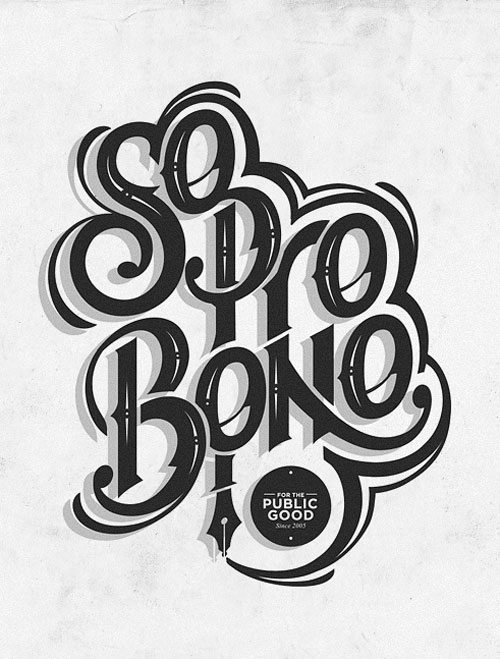 So pro bono Typography Example