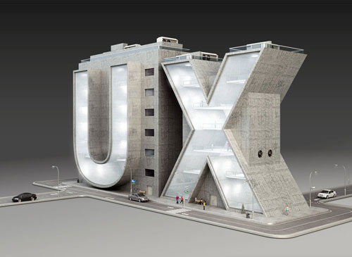 UX 3D type Typography Example