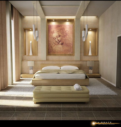 Zen Interior Design Bedroom Rainbow Bedroom Wallpaper Recessed Lighting Bedroom Placement Bedroom Colours With Oak Furniture: Bedroom Interior Design: Ideas, Tips And 50 Examples