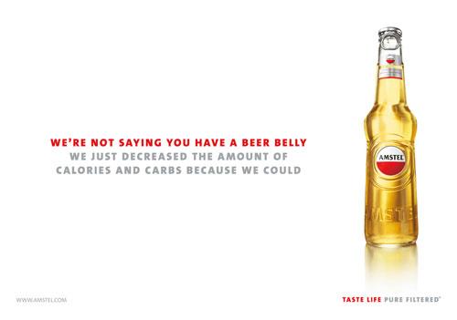 Amstel beer Print Advertisement