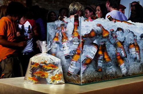 Budweiser: Goldfish Print Advertisement