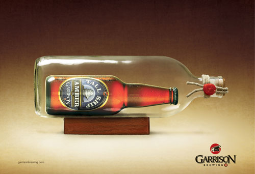 Garrison Brewing Company: Ship in a Bottle Print Advertisement