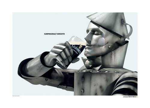 Guinness: Suprisingly smooth. Choose greatness Print Advertisement
