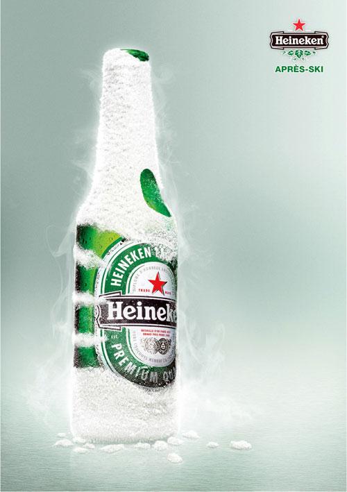 Heineken: After ski Print Advertisement