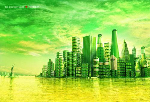Heineken: For a fresher world Print Advertisement