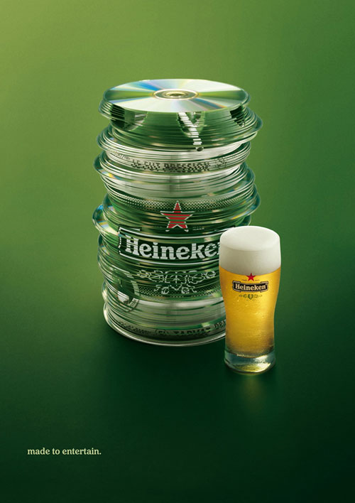 Heineken: Made to entertain Print Advertisement