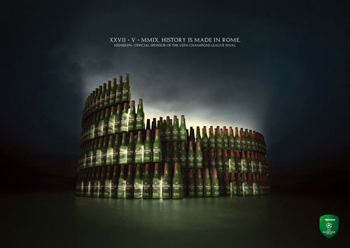 Heineken: Official sponsor of the UEFA Champions League final Print Advertisement