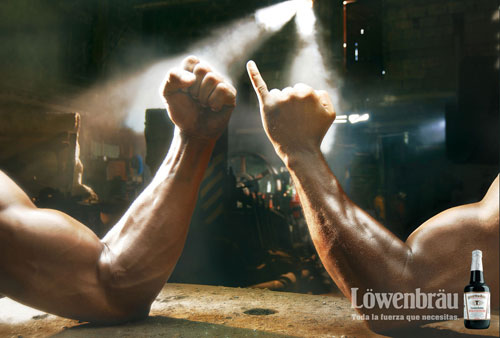Lowenbrau: All the strength that you need Print Advertisement
