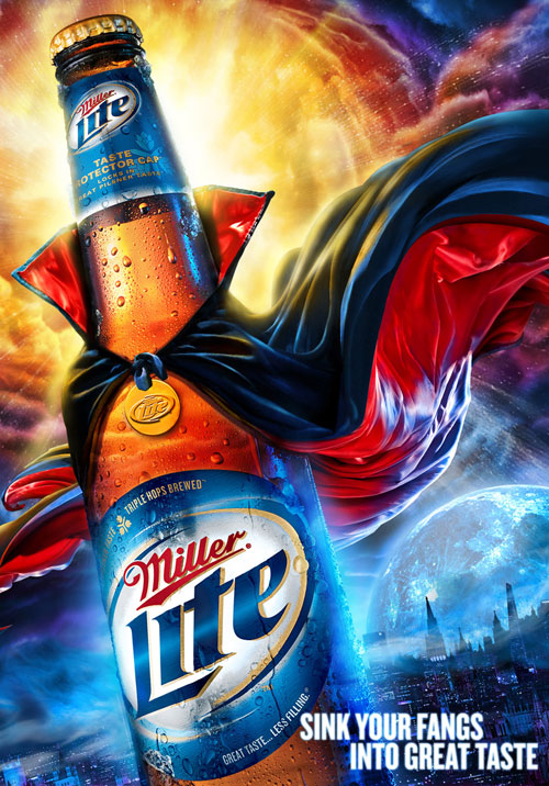Miller: Sink your fangs into great taste Print Advertisement