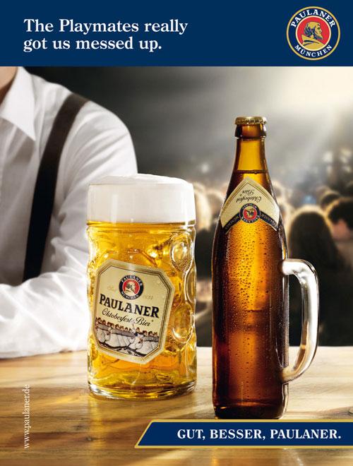 Paulaner beer: Playboy Print Advertisement
