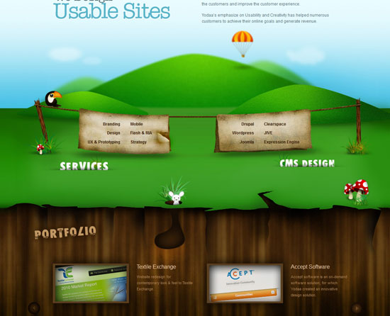 yodaa.com Site design