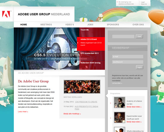 adobeusergroup.nl Site design