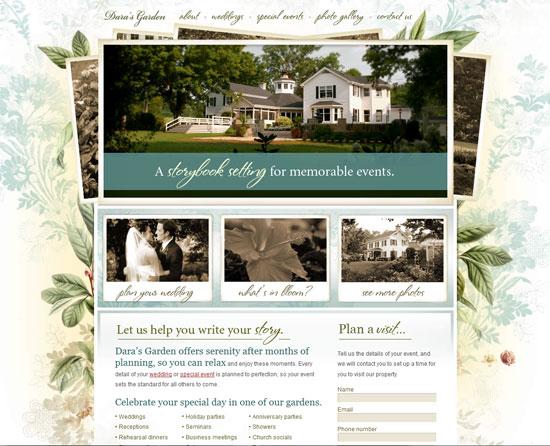 darasgarden.com Site design