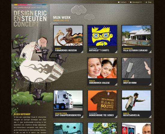 ericsteuten.nl Site design