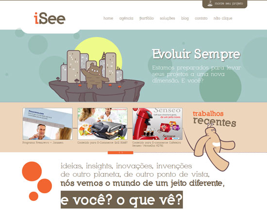 isee.com.br Site design
