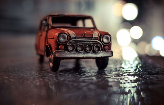 Rainy Night Bokeh Photography inspiration