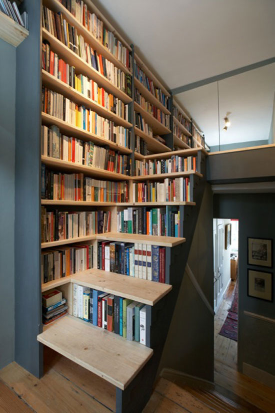 bookshelf10 cool bookshelves 40 unique bookshelf design ideas - Unique Bookshelves