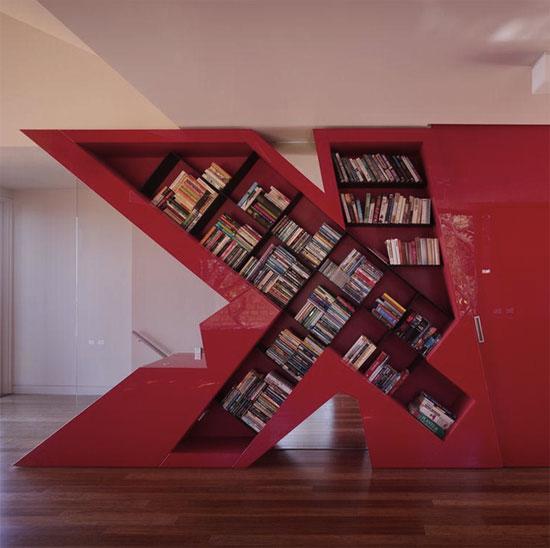 11 Unusual Interior Design Ideas To Make Your Home Awesome: Cool Bookshelves: 40 Unique Bookshelf Design Ideas