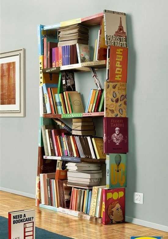 Bookshelf6 Cool Bookshelves 40 Unique Bookshelf Design Ideas