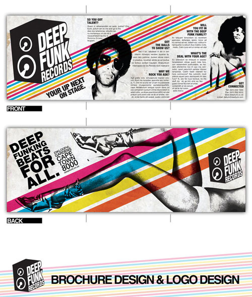 Deep Funk Records Brochure Print Inspiration