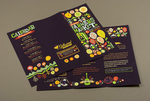 graphic farmers market brochure brochure design inspiration 64 modern brochure examples