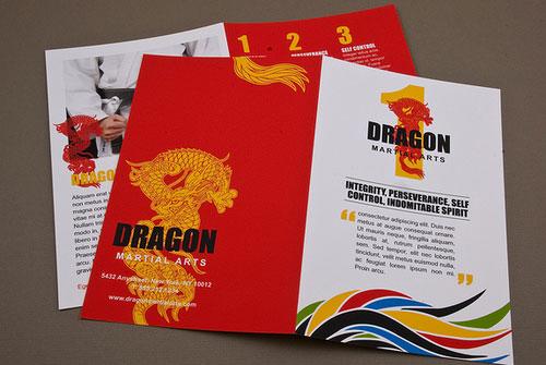Martial-Arts-Academy-Brochure Folleto Inspiración de diseño (64 ejemplos modernos de folletos)