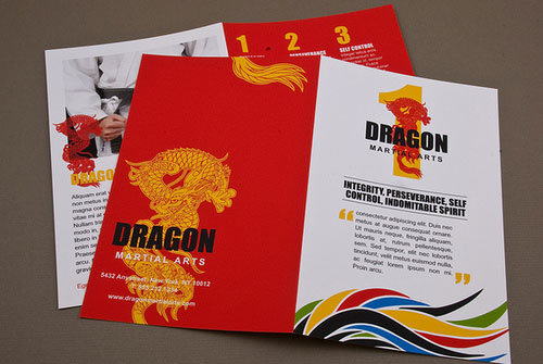 Martial Arts Academy Brochure Print Inspiration