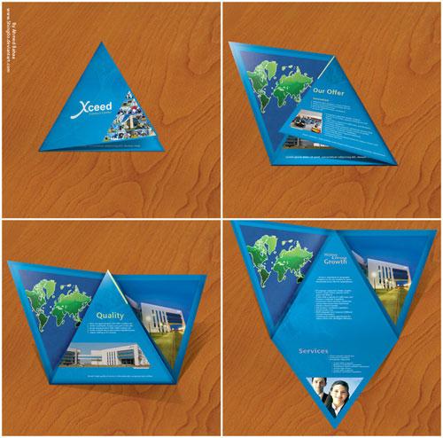 Xceed_Brochure_by_Shing0o Brochure Design Inspiration (64 ejemplos modernos de folletos)