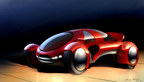 Concept Car Design Digital Painting