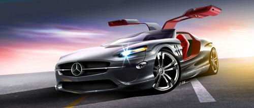 39 Digital Paintings Illustrating Cars And Bonus Tutorials