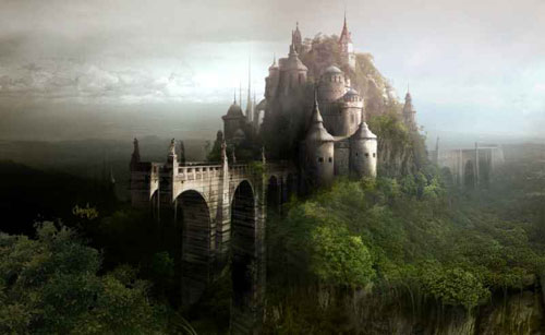 Castle Matte painting for short animation