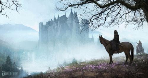 Castle in fog