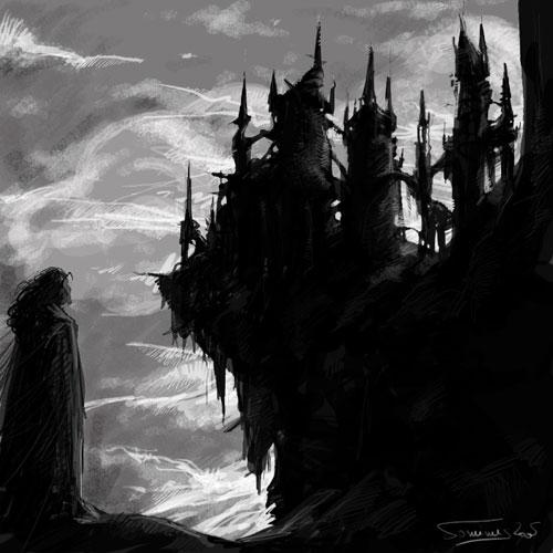 Dark Dracula castle