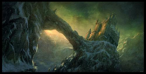 Fantasy digital paintings of castles - 40 examples