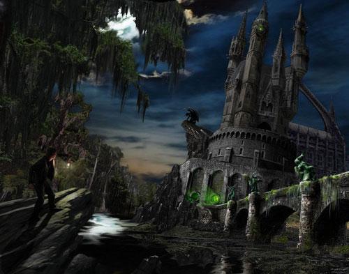 Haunted Castle Matte Painting