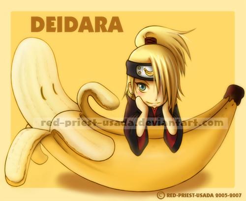 Chibi Fruit Ninja - Deidara